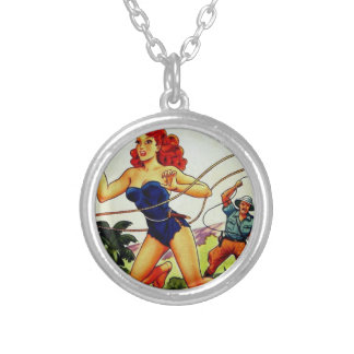 Judy of the Jungle Silver Plated Necklace