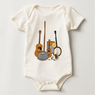 Jug Band Instruments Baby Bodysuit