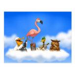 Jug Band O' Birds Postcard