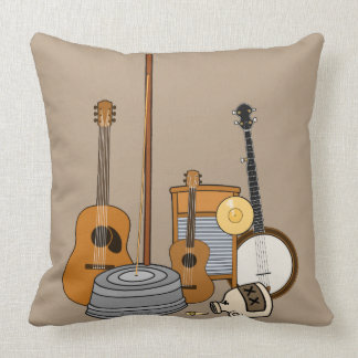 Jug Band Throw Pillow