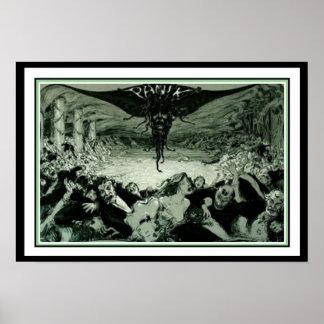 """Jugend Art Nouveau  """"Panik"""" Poster 16 x 20"""
