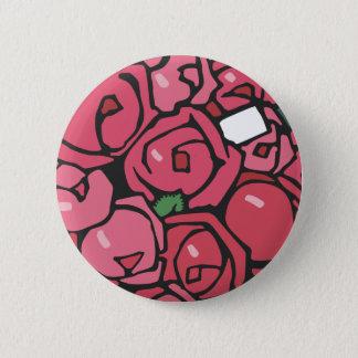 Jugendstil Rose Bouquet 2 Inch Round Button