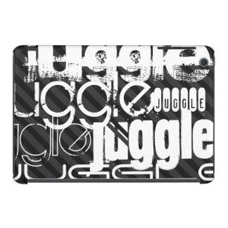 Juggle; Black & Dark Gray Stripes iPad Mini Cover