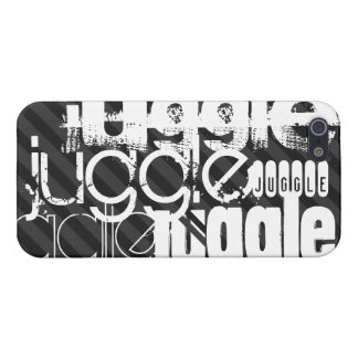 Juggle; Black & Dark Gray Stripes Covers For iPhone 5