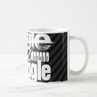 Juggle; Black & Dark Gray Stripes Basic White Mug