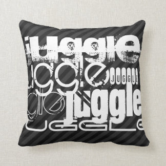 Juggle; Black & Dark Gray Stripes Pillow