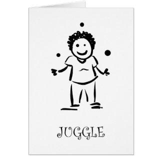 Juggle Greeting Card