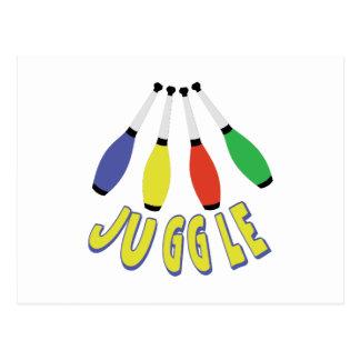 Juggle Clubs Postcard