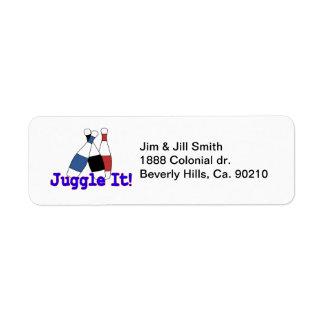 Juggle It Juggler Return Address Label