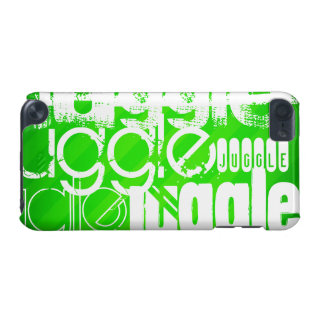 Juggle; Neon Green Stripes iPod Touch 5G Cases