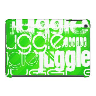 Juggle; Neon Green Stripes iPad Mini Retina Cover