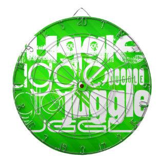 Juggle; Neon Green Stripes Dartboard With Darts