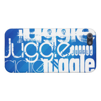 Juggle, Royal Blue Stripes iPhone 5/5S Cases