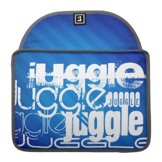Juggle, Royal Blue Stripes MacBook Pro Sleeve