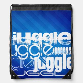 Juggle, Royal Blue Stripes Drawstring Bag