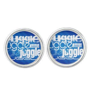 Juggle, Royal Blue Stripes Cuff Links