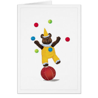 Juggle Teddy Bear Congratulations Card