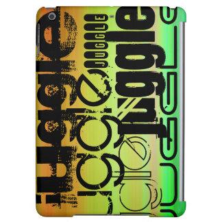 Juggle; Vibrant Green, Orange, & Yellow iPad Air Cases