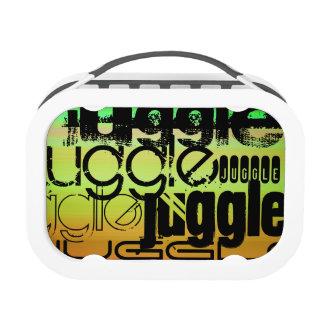 Juggle; Vibrant Green, Orange, & Yellow Lunchboxes
