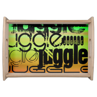Juggle; Vibrant Green, Orange, & Yellow Serving Platter