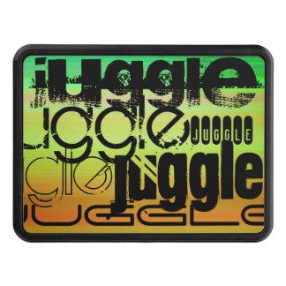Juggle; Vibrant Green, Orange, & Yellow Trailer Hitch Covers