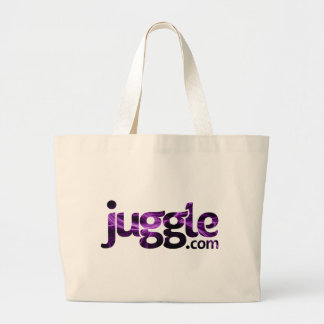 juggleLogo_Aurora Large Tote Bag