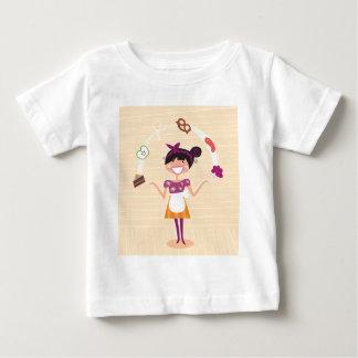 Jugglery girl brown baby T-Shirt