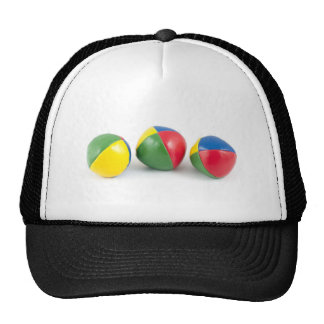 Juggling balls trucker hat
