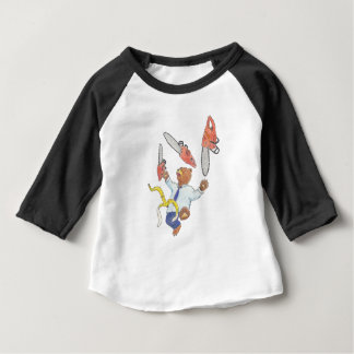 Juggling Bear Children's Raglan T-Shirt