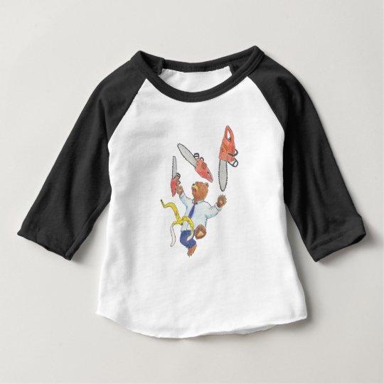 Juggling Bear Children's Raglan T-Shirt
