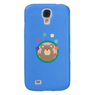 Juggling Brown Bear in circle Q1Q