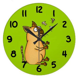 Juggling Cat Wall Clock