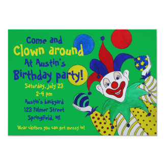 Juggling Clown Birthday Card