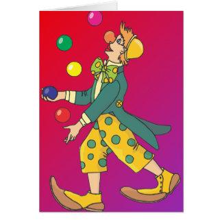 Juggling Clown Card