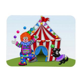 Juggling Clown, Circus Tent Magnet