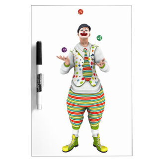 Juggling Clown Dry Erase Whiteboard