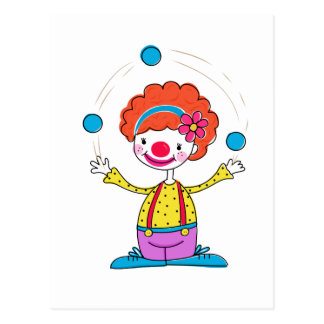 Juggling Clown Postcard