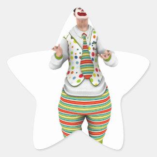 Juggling Clown Star Sticker
