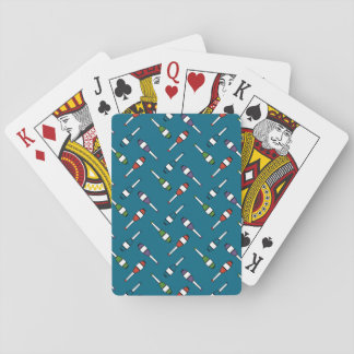 Juggling Club Toss Blue Playing Cards