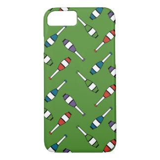Juggling Club Toss Green iPhone 7 Case