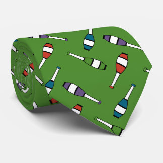 Juggling Club Toss Green Tie