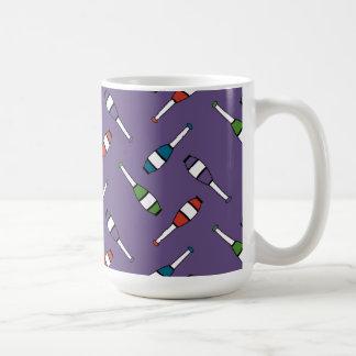 Juggling Club Toss Purple Basic White Mug