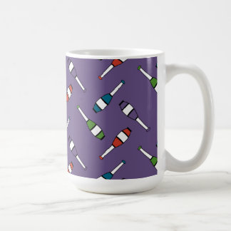 Juggling Club Toss Purple Classic White Coffee Mug