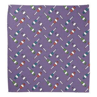 Juggling Club Toss Purple Kerchief
