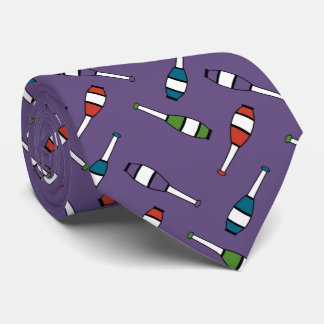 Juggling Club Toss Purple Tie