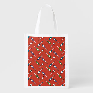 Juggling Club Toss Red Bag Market Tote