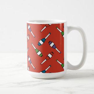 Juggling Club Toss Red Basic White Mug