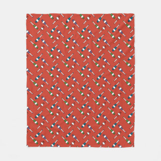 Juggling Club Toss Red Fleece Blanket