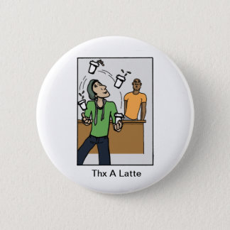 Juggling Coffees 2 Inch Round Button