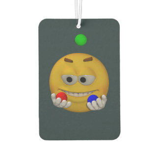 Juggling emoticon, animation style air freshener